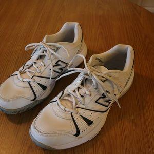 70d5ebb199087 New Balance Shoes - New Balance 655 White / Navy Blue Men's Cross Trai
